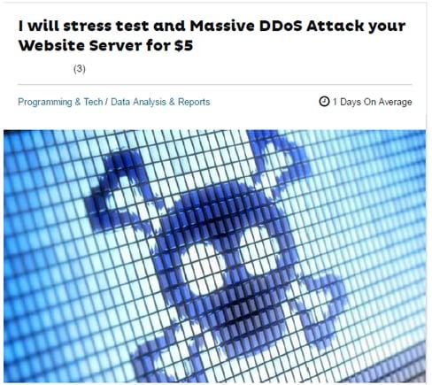 図3_15分あたり$5で提供されるDDoS攻撃サービスの例