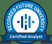 certified analyst logo data