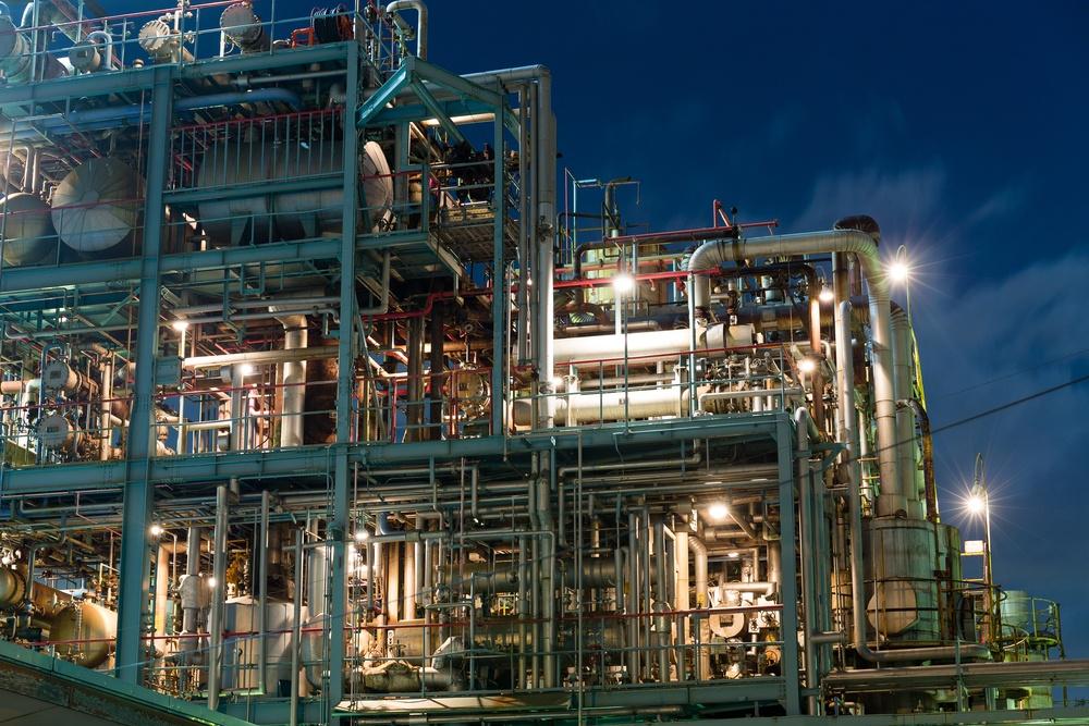 Industry factory in kawasaki at night