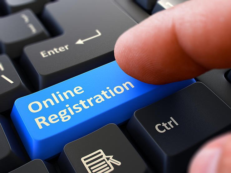 online registration with ID and password
