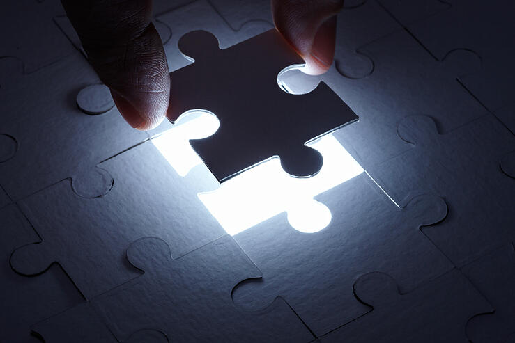 close up of a puzzle game parts