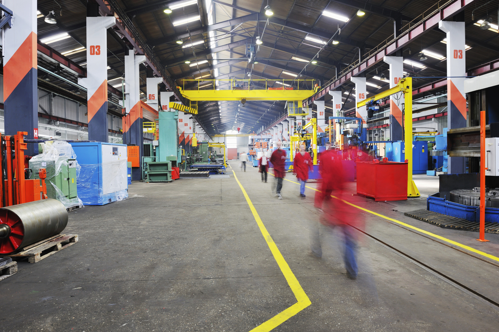 iron works steel and machine parts modern factory indoor hall-1