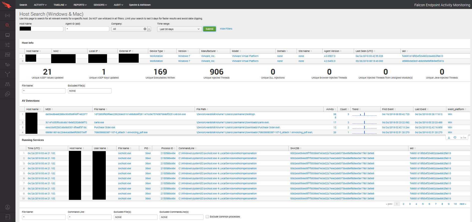 crowdstrike-dashboard-host-search